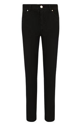 Укороченные однотонные джинсы Two Women In The World черные | Фото №1