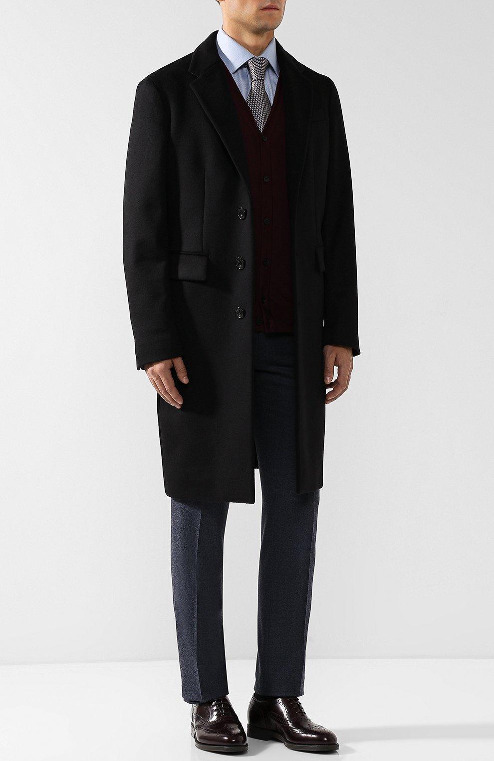 Мужские кожаные оксфорды GIORGIO ARMANI бордового цвета, арт. X2C590/XF294 | Фото 2 (Мужское Кросс-КТ: Броги-обувь; Материал внутренний: Натуральная кожа; Стили: Классический; Статус проверки: Проверено, Проверена категория)