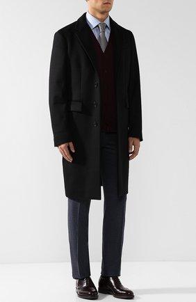 Мужские кожаные оксфорды GIORGIO ARMANI бордового цвета, арт. X2C590/XF294 | Фото 2