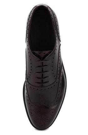 Мужские кожаные оксфорды GIORGIO ARMANI бордового цвета, арт. X2C590/XF294 | Фото 5 (Мужское Кросс-КТ: Броги-обувь; Материал внутренний: Натуральная кожа; Стили: Классический; Статус проверки: Проверено, Проверена категория)