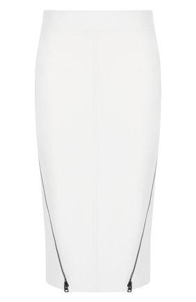 Шерстяная юбка-карандаш с металлическими молниями | Фото №1