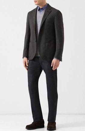Пуловер из смеси шерсти и хлопка  Cividini серый | Фото №1
