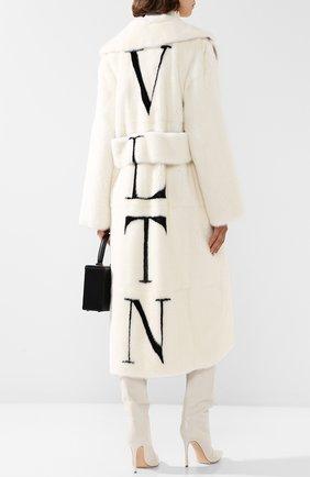 Шуба с накладными карманами и логотипом бренда на спине | Фото №2