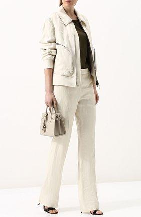 Женская куртка с отложным воротником из смеси вискозы и льна TOM FORD белого цвета, арт. CS0978-FAX330 | Фото 2