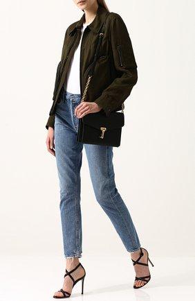 Куртка с отложным воротником из смеси вискозы и льна | Фото №2