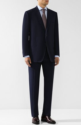 Мужской шерстяной костюм с пиджаком на двух пуговицах CORNELIANI темно-синего цвета, арт. 827315C8818150/92 Q1   Фото 1