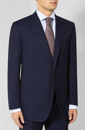 Мужской шерстяной костюм с пиджаком на двух пуговицах CORNELIANI темно-синего цвета, арт. 827315C8818150/92 Q1   Фото 2