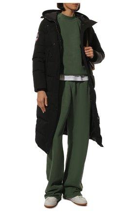 Стеганое пуховое пальто с капюшоном Arctic Explorer черная | Фото №1