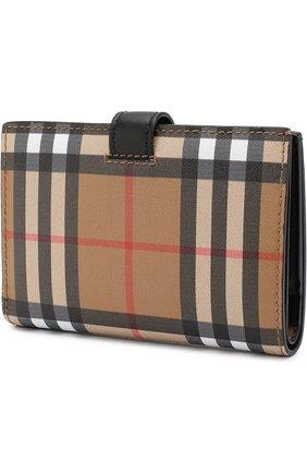 Кожаный кошелек в клетку Vintage Check | Фото №2