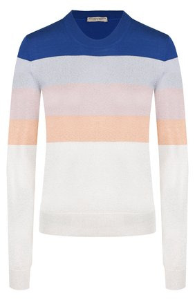 Пуловер из смеси шерсти и вискозы в полоску | Фото №1