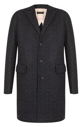 Однобортное пальто из смеси кашемира и шерсти | Фото №1