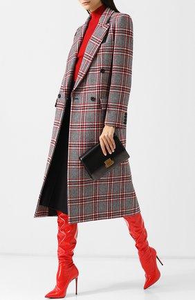 Кожаные ботфорты на шпильке Le Silla красные | Фото №1
