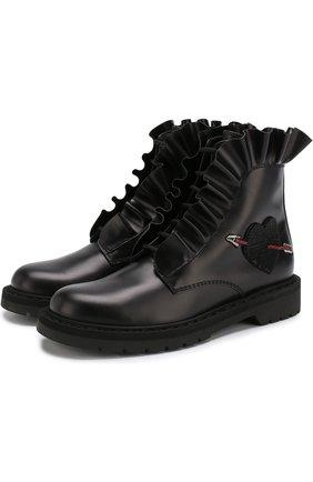 Кожаные ботинки Valentino Garavani Love Combat Boot   Фото №1