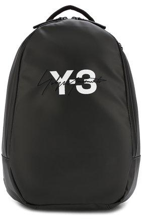 Рюкзак с логотипом бренда Y-3 черный | Фото №1