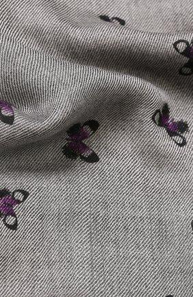 Кашемировый шарф с принтом Bottega Veneta серый | Фото №1
