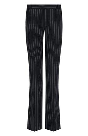 Расклешенные шерстяные брюки в полоску   Фото №1