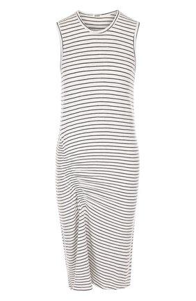 Платье с круглым вырезом в полоску Monrow разноцветное | Фото №1