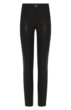Женские кожаные брюки FRAME DENIM черного цвета, арт. LHSKL001 | Фото 1