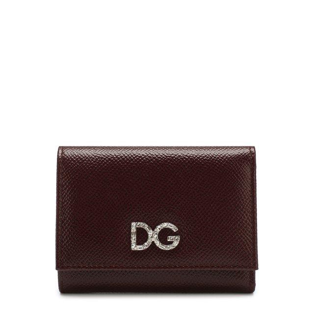 Кожаный кошелек на кнопке Dolce & Gabbana