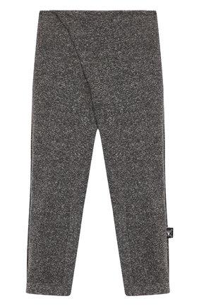 Хлопковые брюки с заниженной линией шага NUNUNU темно-серого цвета   Фото №1