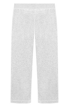 Хлопковые брюки с поясом на кулиске Juicy Couture серого цвета | Фото №1
