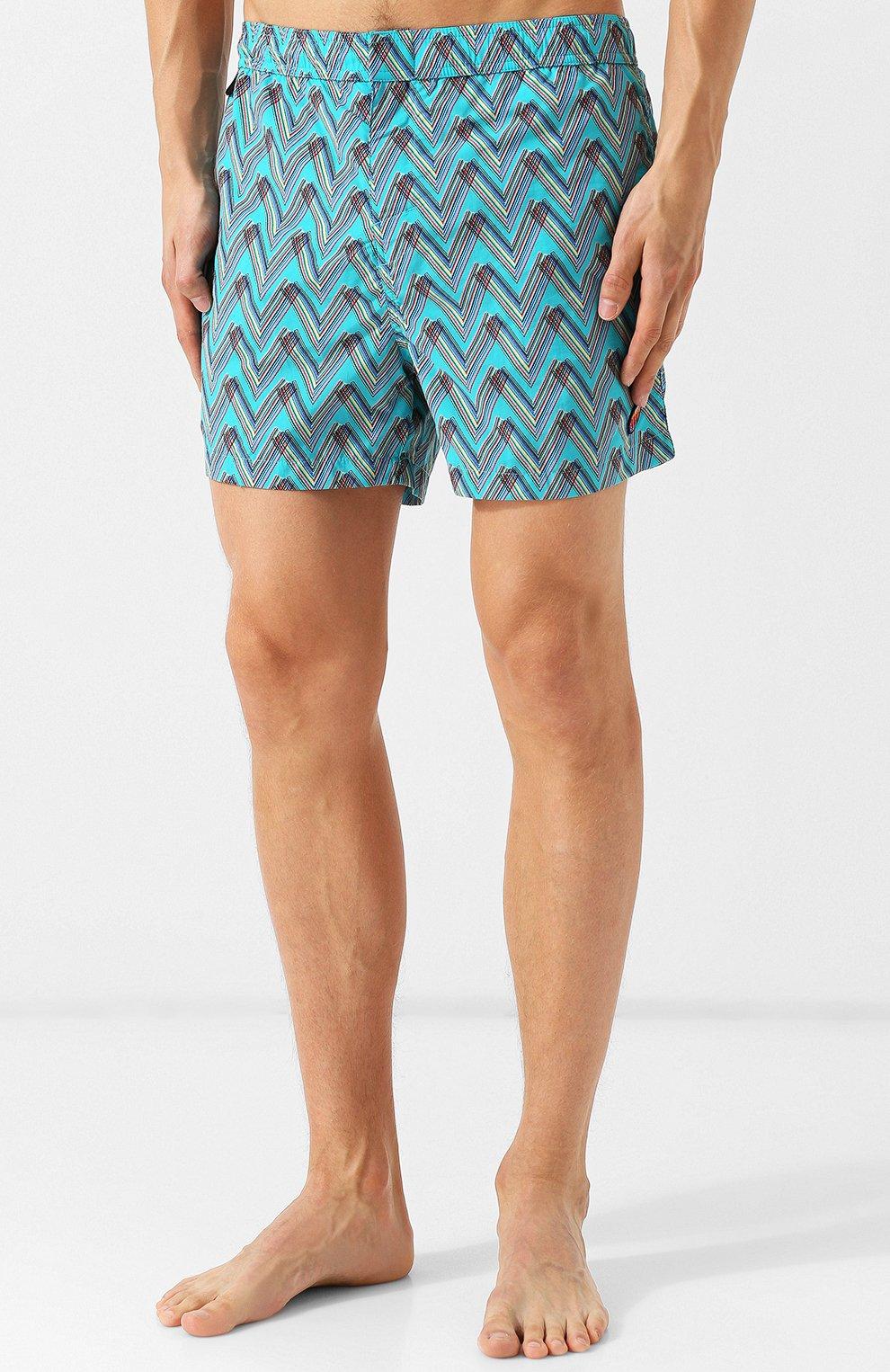 Плавки-шорты с принтом Missoni бирюзовые | Фото №3