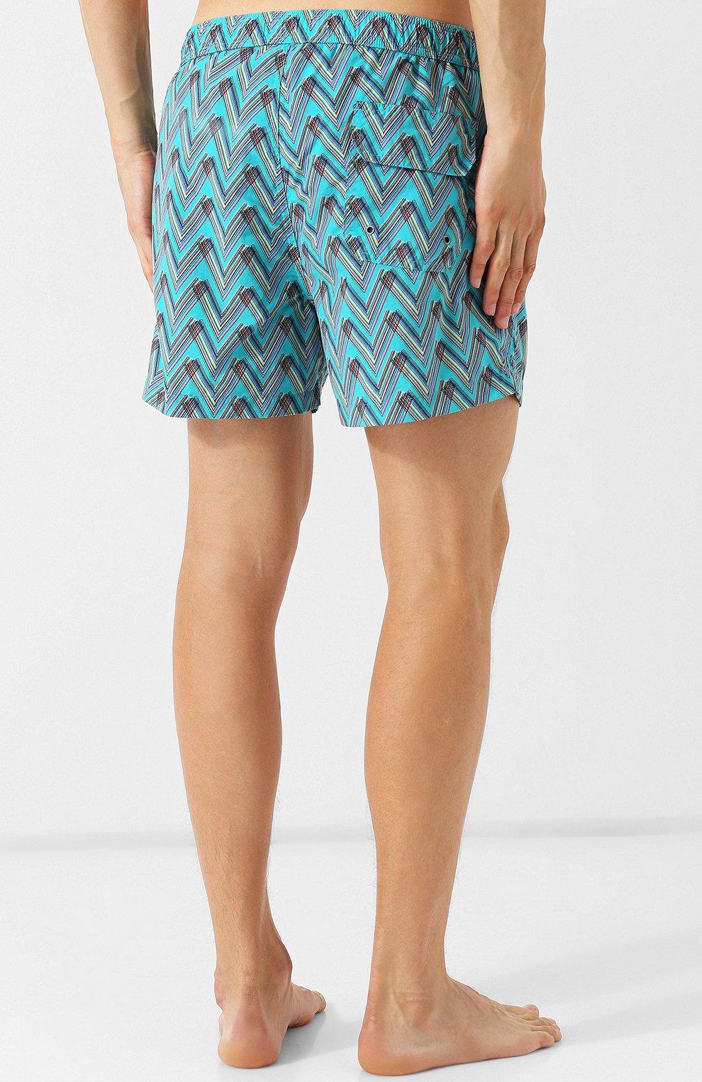 Плавки-шорты с принтом Missoni бирюзовые | Фото №4