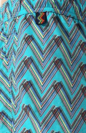 Плавки-шорты с принтом Missoni бирюзовые | Фото №5