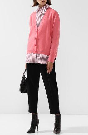 Кардиган из смеси шерсти и кашемира на пуговицах Cedric Charlier розовый | Фото №1