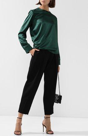 Женская однотонная блуза с драпировкой Cedric Charlier, цвет зеленый, арт. V0209/8924 в ЦУМ | Фото №1