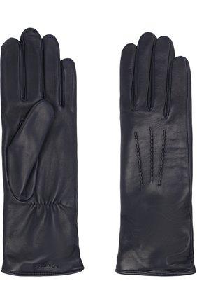 Кожаные перчатки с подкладкой из шерсти Agnelle темно-серые | Фото №1