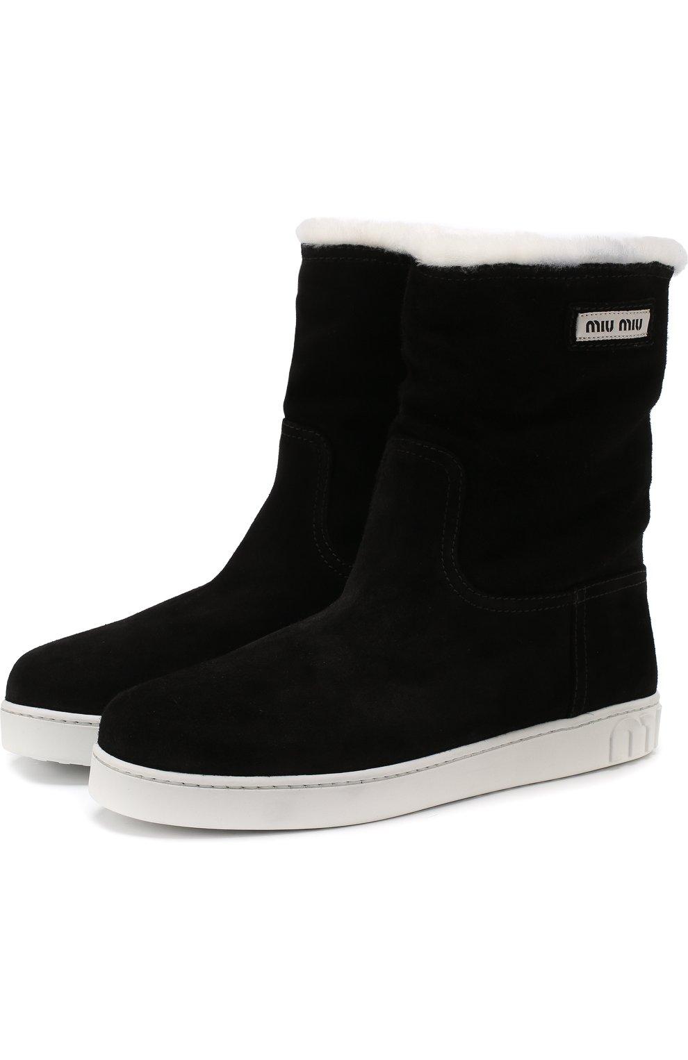 Женская обувь Miu Miu по цене от 21 100 руб. купить в интернет-магазине ЦУМ c1a1f983577