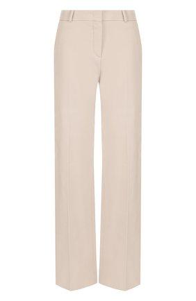 Женские однотонные брюки из хлопка LORO PIANA темно-бежевого цвета, арт. FAI3516 | Фото 1