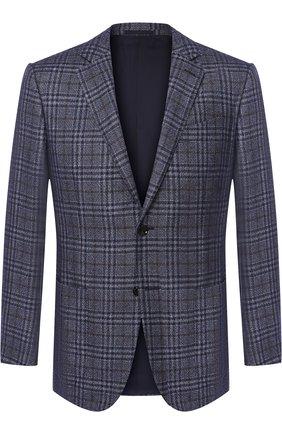 Однобортный пиджак из смеси шелка и кашемира   Фото №1