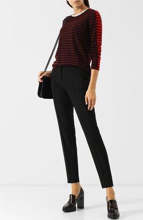 Женская кожаные туфли на устойчивом каблуке и платформе TOD'S бордового цвета, арт. XXW41A0U370SHA | Фото 2
