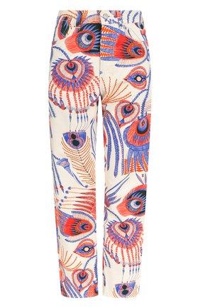Укороченные джинсы прямого кроя с принтом