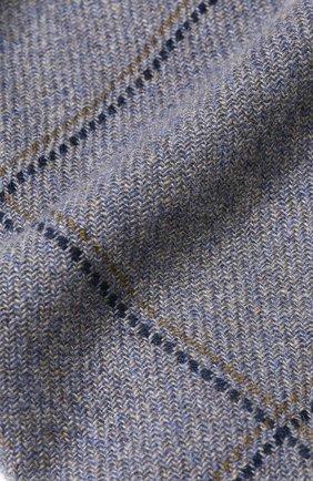 Мужской кашемировый шарф с бахромой LORO PIANA синего цвета, арт. FAI2189 | Фото 2