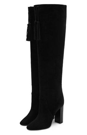 Замшевые ботфорты Meurice на устойчивом каблуке | Фото №1