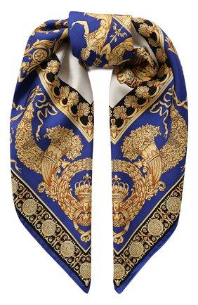 Женский шелковый платок VERSACE синего цвета, арт. IF09001/IT02619   Фото 1
