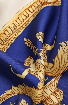 Женский шелковый платок VERSACE синего цвета, арт. IF09001/IT02619   Фото 2