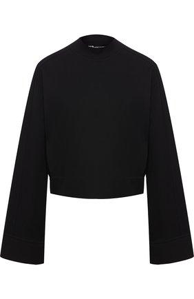 Хлопковый пуловер с воротником-стойкой и логотипом бренда на спине Y-3 черный | Фото №1