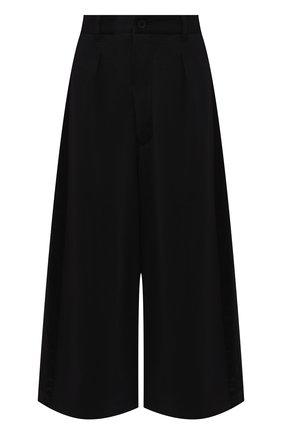 Однотонные укороченные брюки свободного кроя Y-3 черные | Фото №1