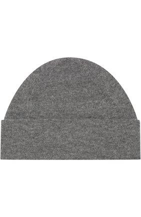 Кашемировая шапка с отворотом Cividini светло-серого цвета | Фото №1