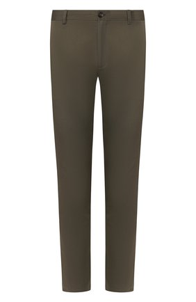 Мужской хлопковые брюки BURBERRY хаки цвета, арт. 8001625 | Фото 1
