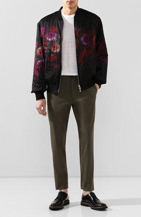 Мужские хлопковые брюки BURBERRY хаки цвета, арт. 8001625 | Фото 2