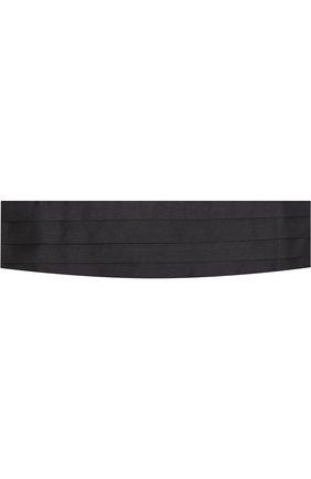 Мужской шелковый камербанд CORNELIANI черного цвета, арт. 82U307-8820311/00   Фото 1