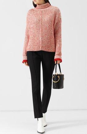 Вязаный пуловер с высоким воротником