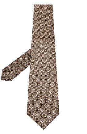 Мужской шелковый галстук с узором KITON желтого цвета, арт. UCRVKLC02F98 | Фото 2