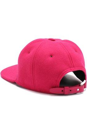 Шерстяная кепка VLTN Valentino фуксия цвета | Фото №2