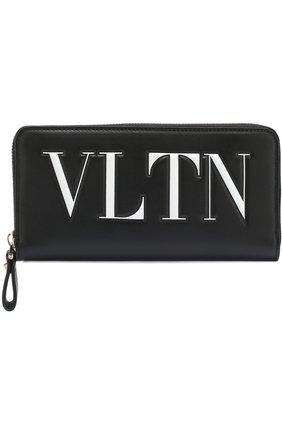 Кожаный кошелек на молнии VLTN | Фото №1